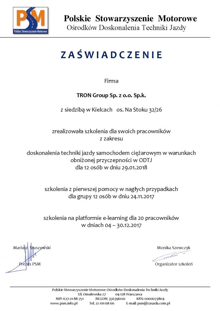 Bezpieczna Flota - certyfikat TRON Group-page-001