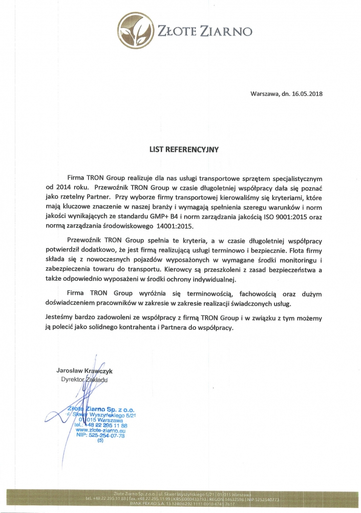 Referencje-z-firmy-Złote-Ziarno-dla-TRON-Group